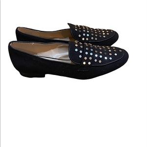 Call it Spring women's black flats with studs size 8. EUC